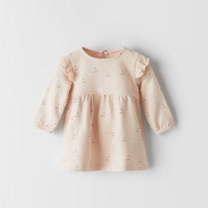 NWT 1-3 months Zara pink dress with cherries